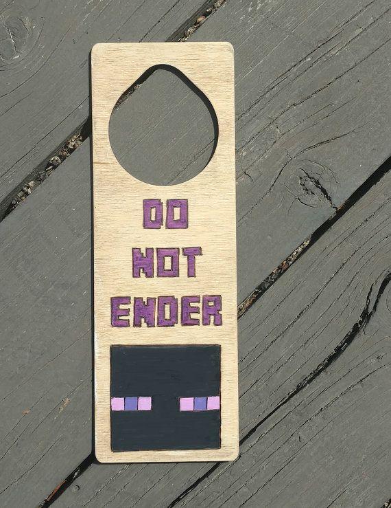 Minecraft Door Hanger Privacy Sign Mine Craft Keep Out Minecraft Boys Bedroom Door Hangers