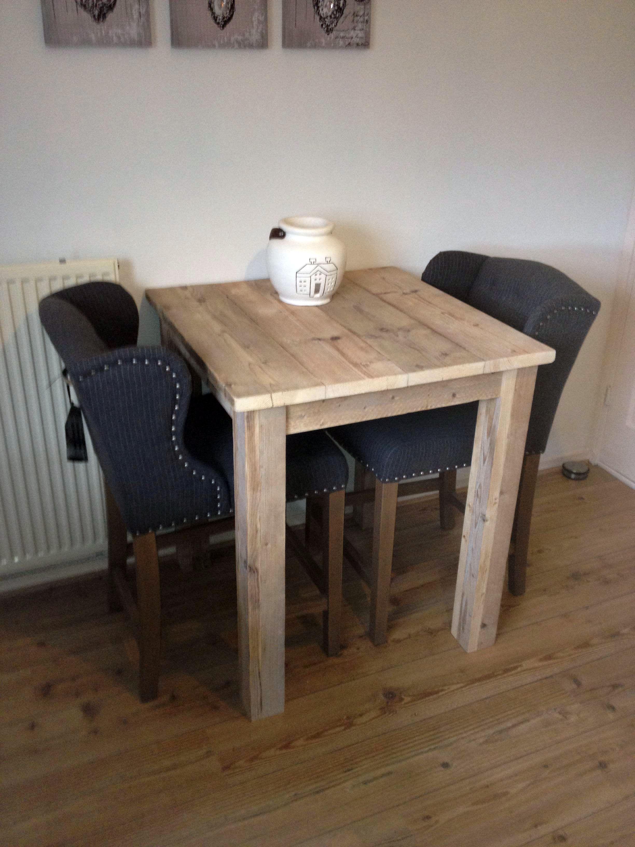 Vierkante Eettafel Steigerhout.Mooie Hoge Vierkante Eettafel Van Steigerhout Op Maat