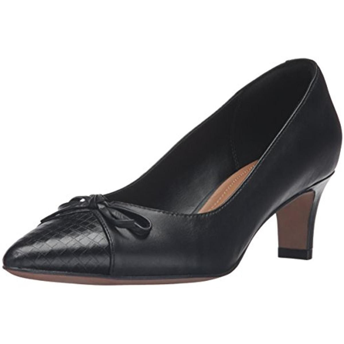 Clarks Womens Crewso Calica Leather Pointed Toe Pumps