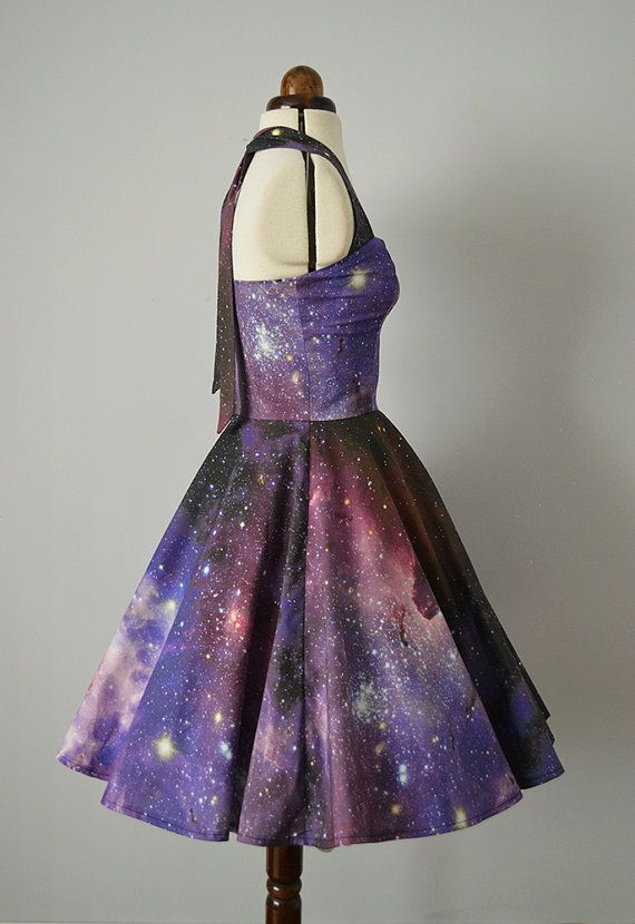 XS-XL Nebula Galaxy Dress Wild Within