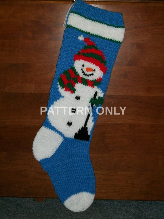 Pattern+Only+Hand+Knitted+Snowman+with+Scarf+by+knottyneedleworker,+$8.59