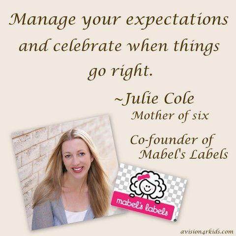 Julie Cole on priorities and parenting #WordsToLiveBy