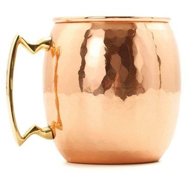 Check out this item at One Kings Lane! S/2 Hammered Moscow Mule Mugs, 16 Oz