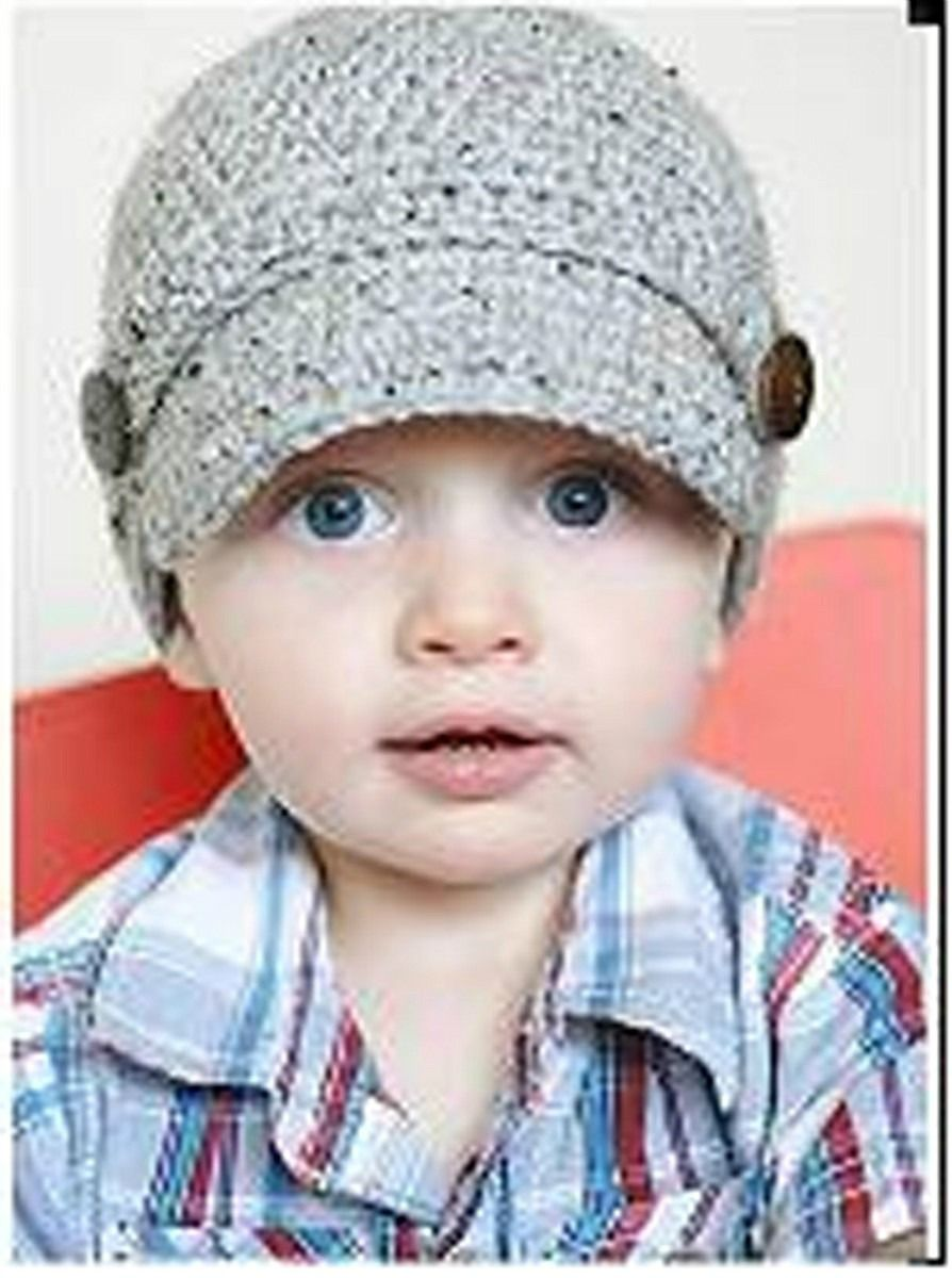 crochet infant newsboy hat pattern