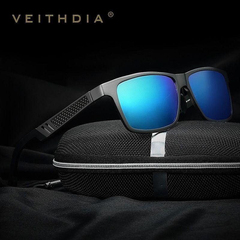 f3eb4a0d63 2016 New Mens Aluminium Polarized Sunglasses Retro Mirrored Driving Eyewear