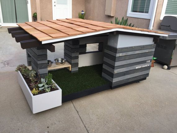 Modern Dog House Mid Century Ranch By Pdworkshop On Etsy Modern