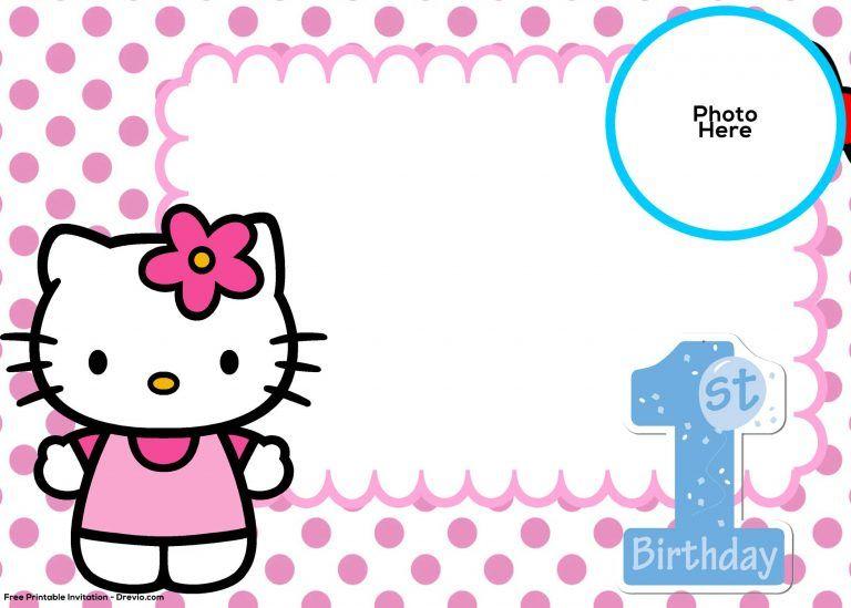 Pin On Hello Kitty Birthday Invitations