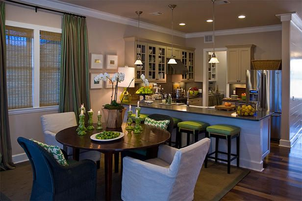 Hgtv Once Again Has Created The Perfect Cottagesque Space Dining Room Layout Kitchen Dining Room Combo Dining Room Combo