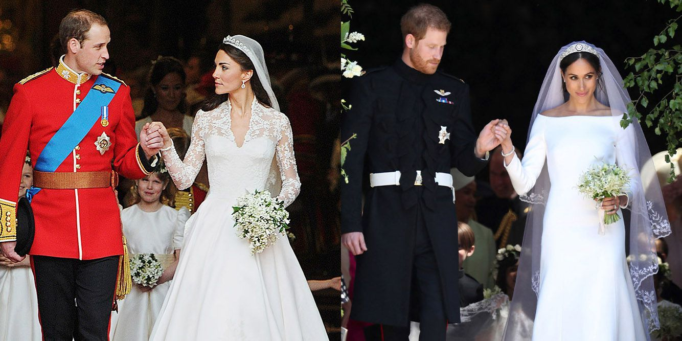 Sarah burton kate middleton wedding dress  How Meghan Markle and Prince Harryus Wedding Compares to Kate