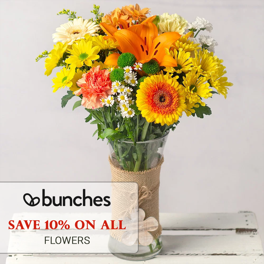 Save 10 On All Flowers, Get More By Using Bunches Voucher