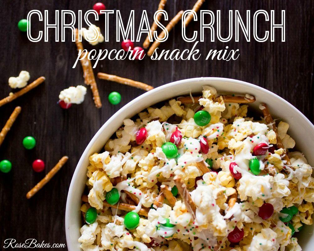 Christmas Crunch Popcorn Snack Mix   Recipe   Popcorn snacks ...