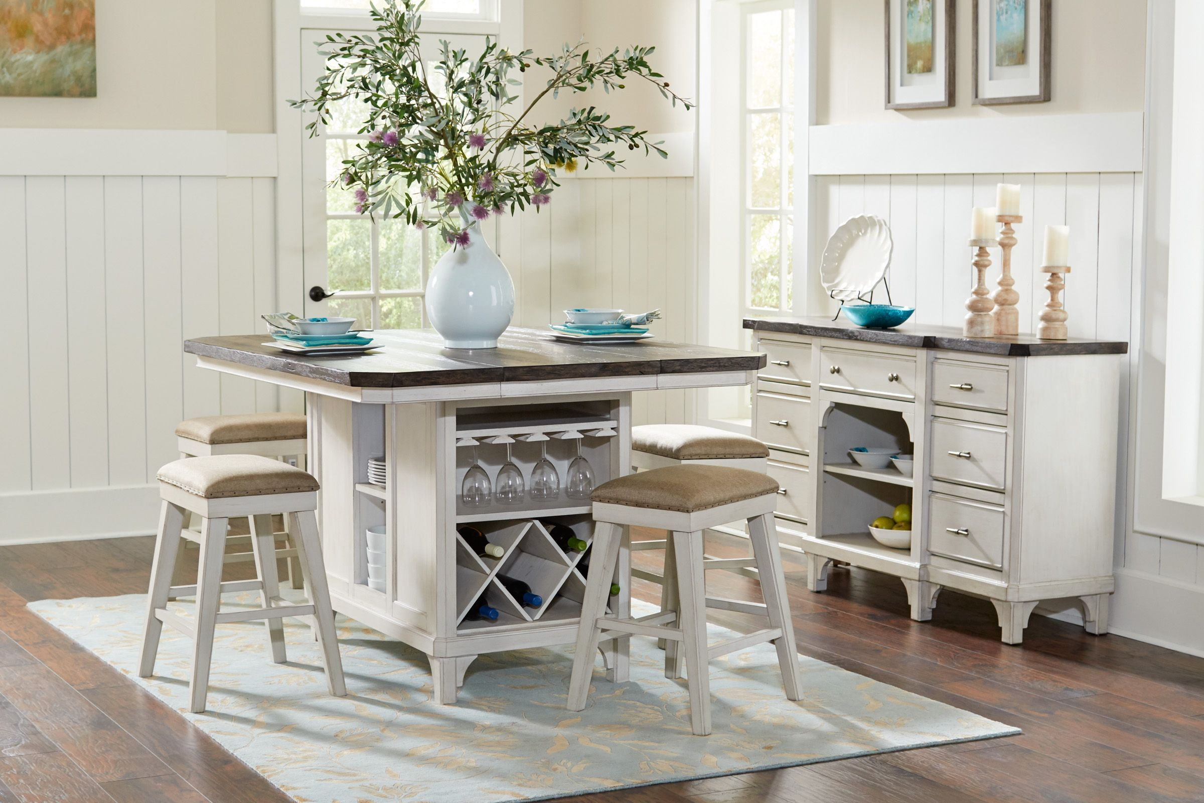 Mystic Island Table 4 Gathering Chairs Kitchen Table With