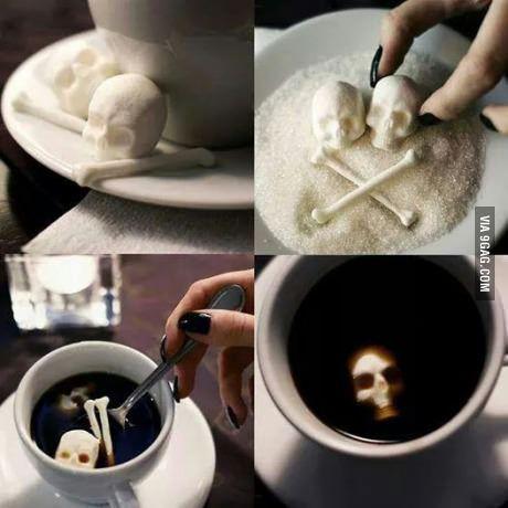 Bone shaped sugar cubes...