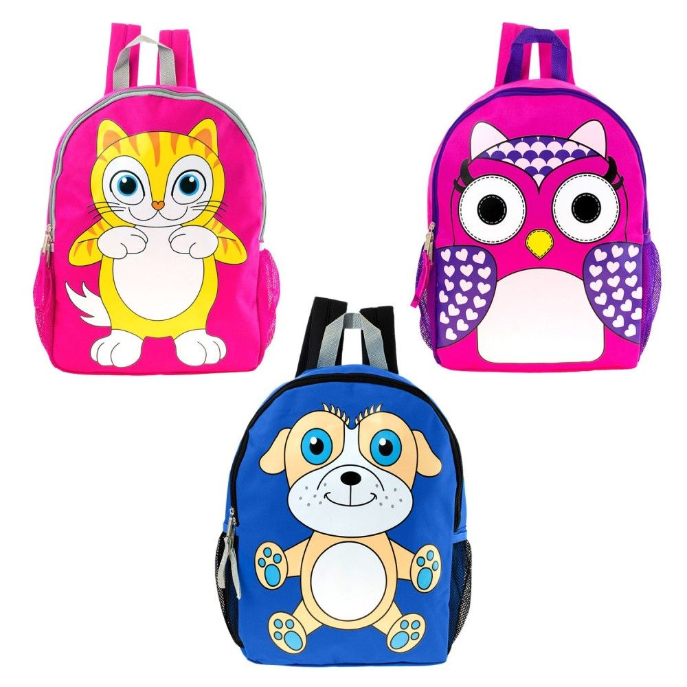 17 Whole Backpack In 3 Assorted Animal Prints Bulk Case Of 24 Bookbags