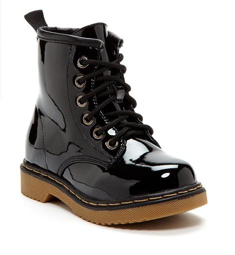 Coco Jumbo Black Patent Jane Boots Big Girls Size 4.5-7 Y  boots  girls   size  jane  patent  jumbo  black  coco 0238164fdb34