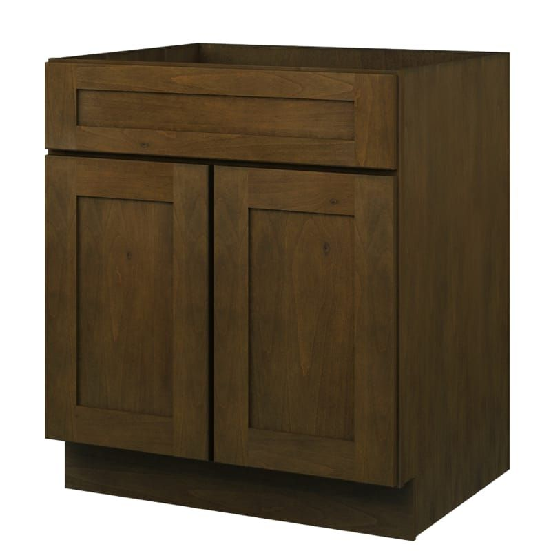 Sunny Wood Bnb30s A Chocolate Branden 34 1 2 X 30 Double Door Sink Base Cabinet Base Cabinets Feature Cabinets Floating Cabinets
