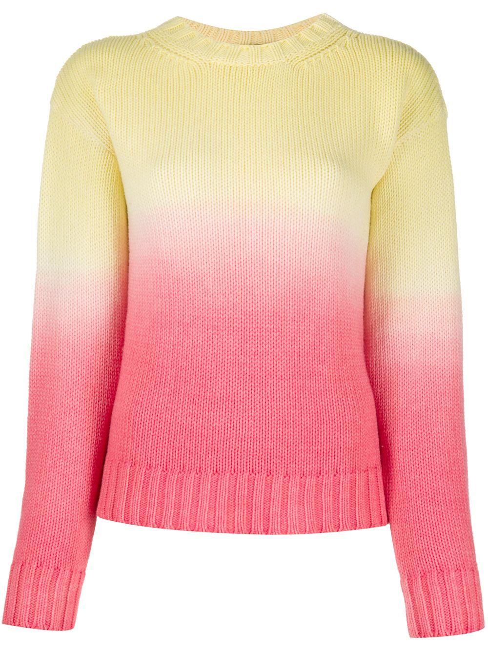 Alanui Wave Life ombré knit jumper - Yellow