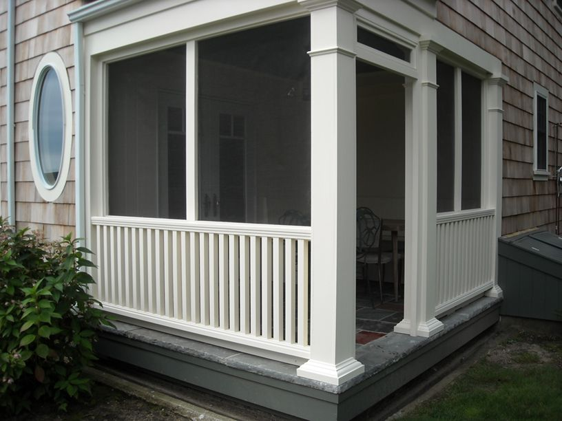 Small screened porch on pinterest for Balcony screen