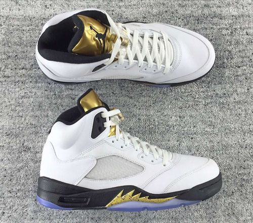 air jordan 5 v gold tongue women shoes