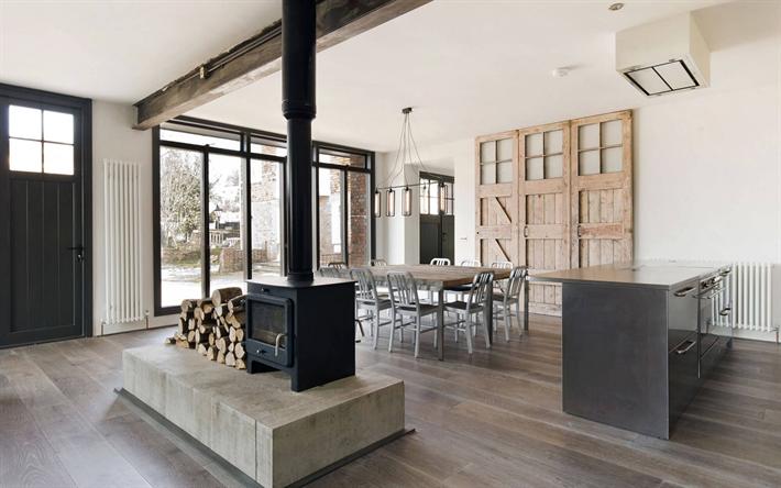 Salotto Moderno Grande : Scarica sfondi soggiorno moderno grande tavolo interni spaziosi
