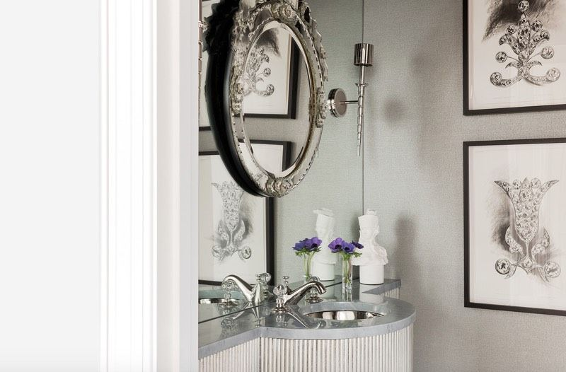 fascinating half bath decorating ideas bathroom | 50 Powder Room Ideas That Transform Your Small Half Bath ...