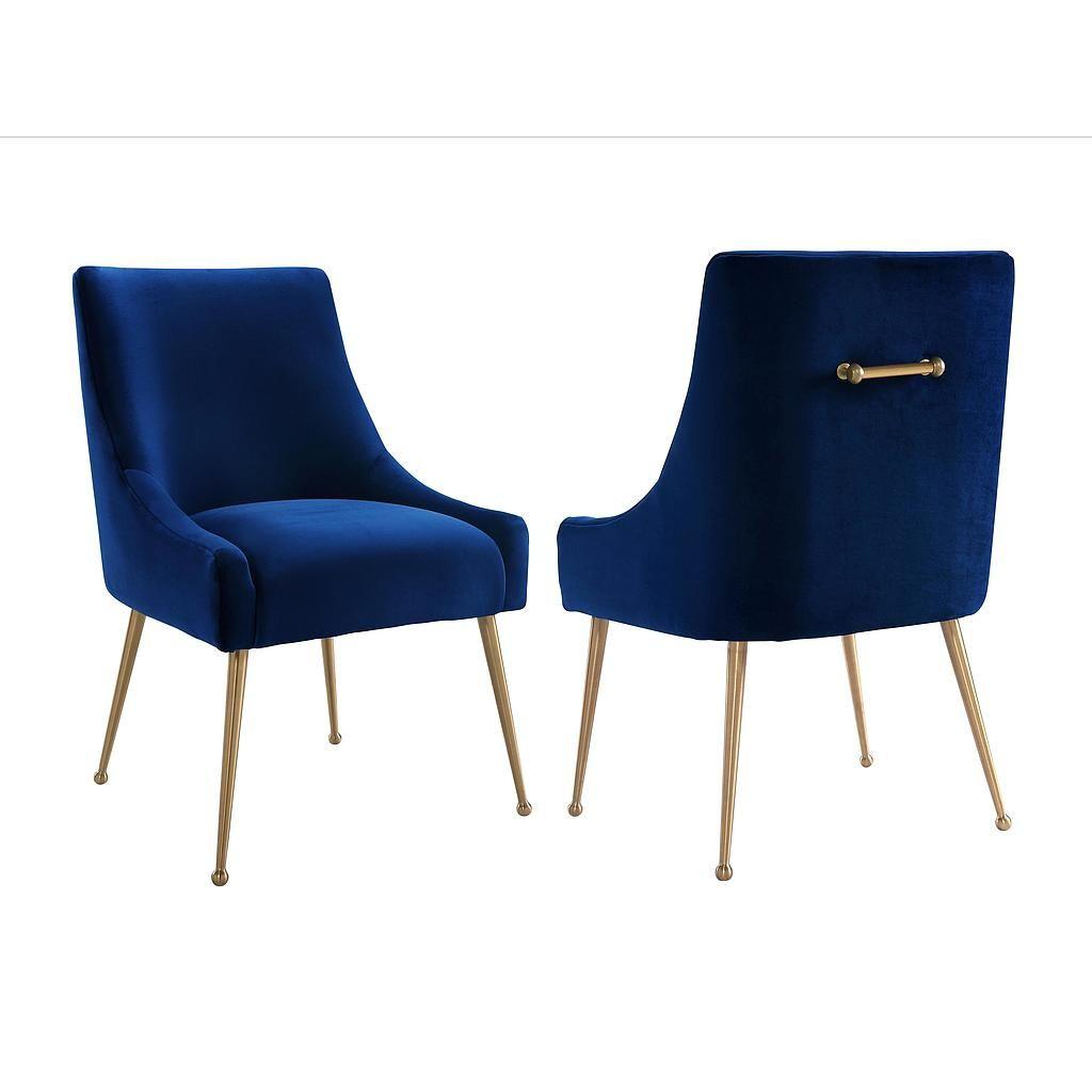 Beatrix Navy Velvet Side Chair | Tov Furniture | Dunlap Furniture ...