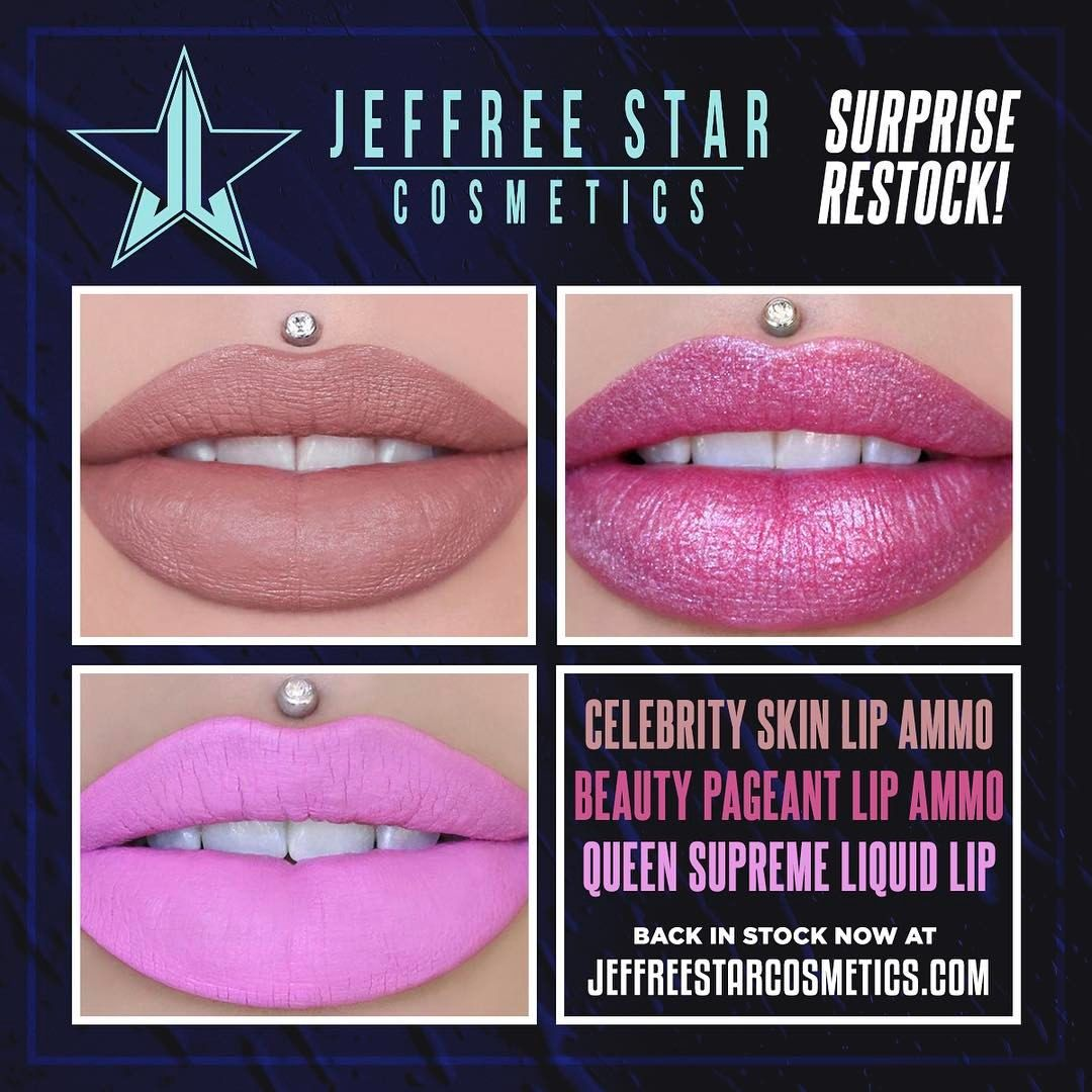 "30.1k Likes, 295 Comments - Jeffree Star Cosmetics (@jeffreestarcosmetics) on Instagram: ""LOOK WHAT'S BACK....  #lipammunition #velourliquidlipstick #jeffreestarcosmetics"""