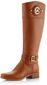 c5755576abc MICHAEL Michael Kors Stockard Leather Riding Boot on shopstyle.com ...