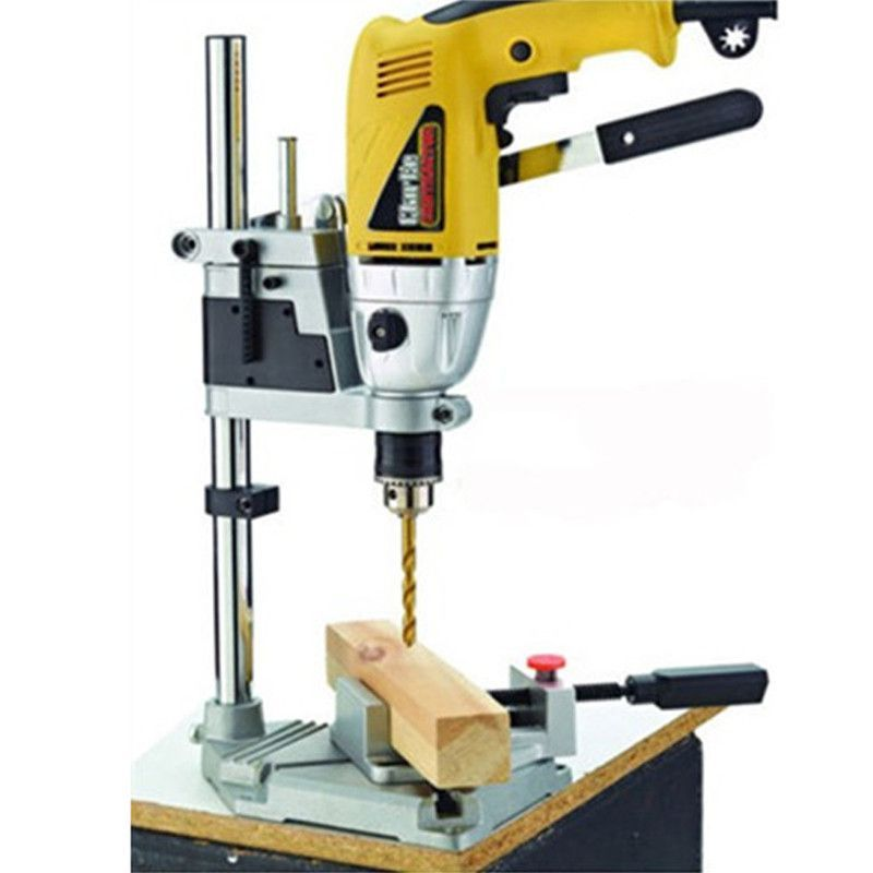 Power Tools Accessories Bench Drill Press Stand Clamp Base Frame for Electric Drills DIY Tool ...