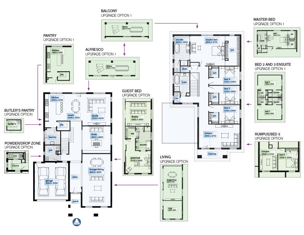 Simonds Homes Floorplan   Villa Grande