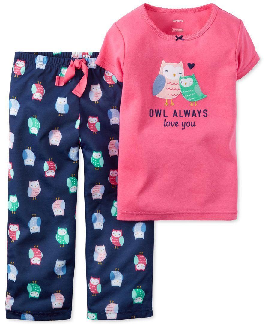 1f025f6708b2 Carter s Girls  or Little Girls  2-Piece Owl Pajama Set