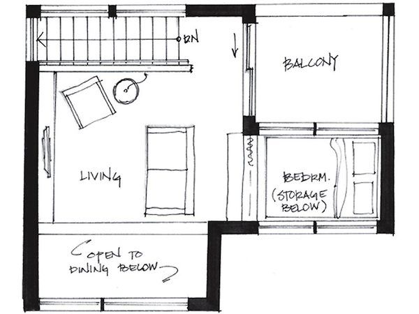 Couple Living In 500 Square Foot Small House By Smallworks Studios Small House Floor Plans Small House Plans 500 Sq Ft House