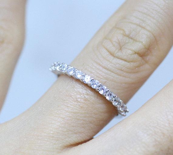 3f2b82239c167 2mm diamond eternity band, 2mm diamond ring, simple engagement ring ...