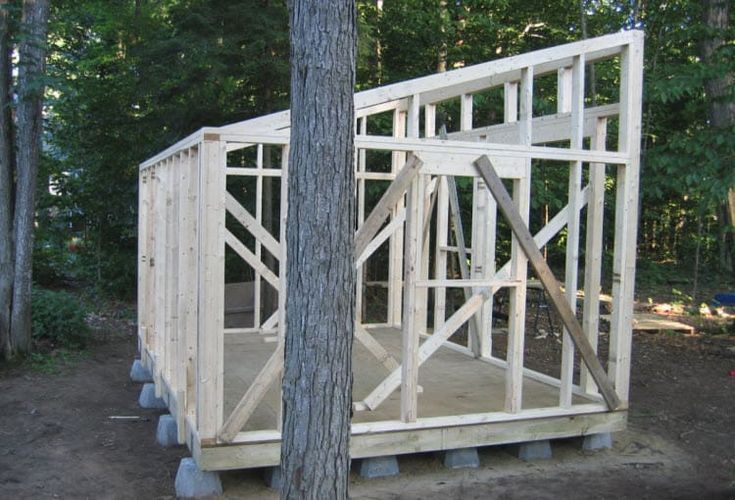 How To Build a Shed with a Slanted Roof [Step-by-Step ...