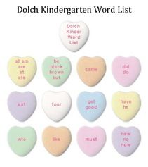 Candy Heart Activities: FREE Candy Heart Dolch Word Posters. (PP 3rd)