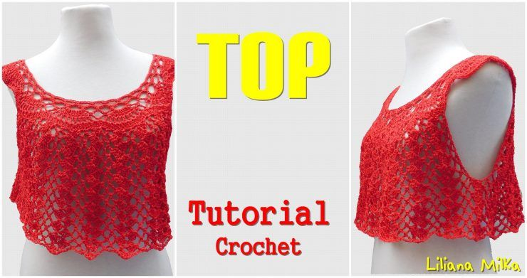 Top Para Mujer Adaptación De Patron Blusa Paso A Paso Crochet Como Tejer Una Blusa Patrones De Blusa Tutorial De Blusa