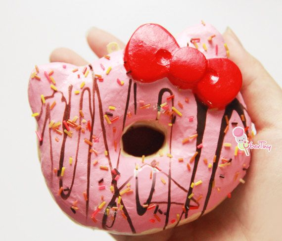 Hello Kitty Donut Squishy Size : Rilakkuma Bun Charm Donuts and Hello kitty