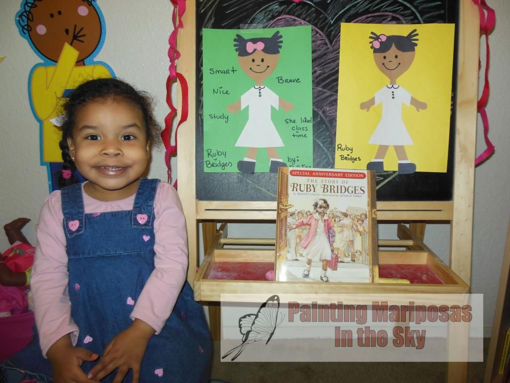 Black History Month Ruby Bridges Toddler Activity