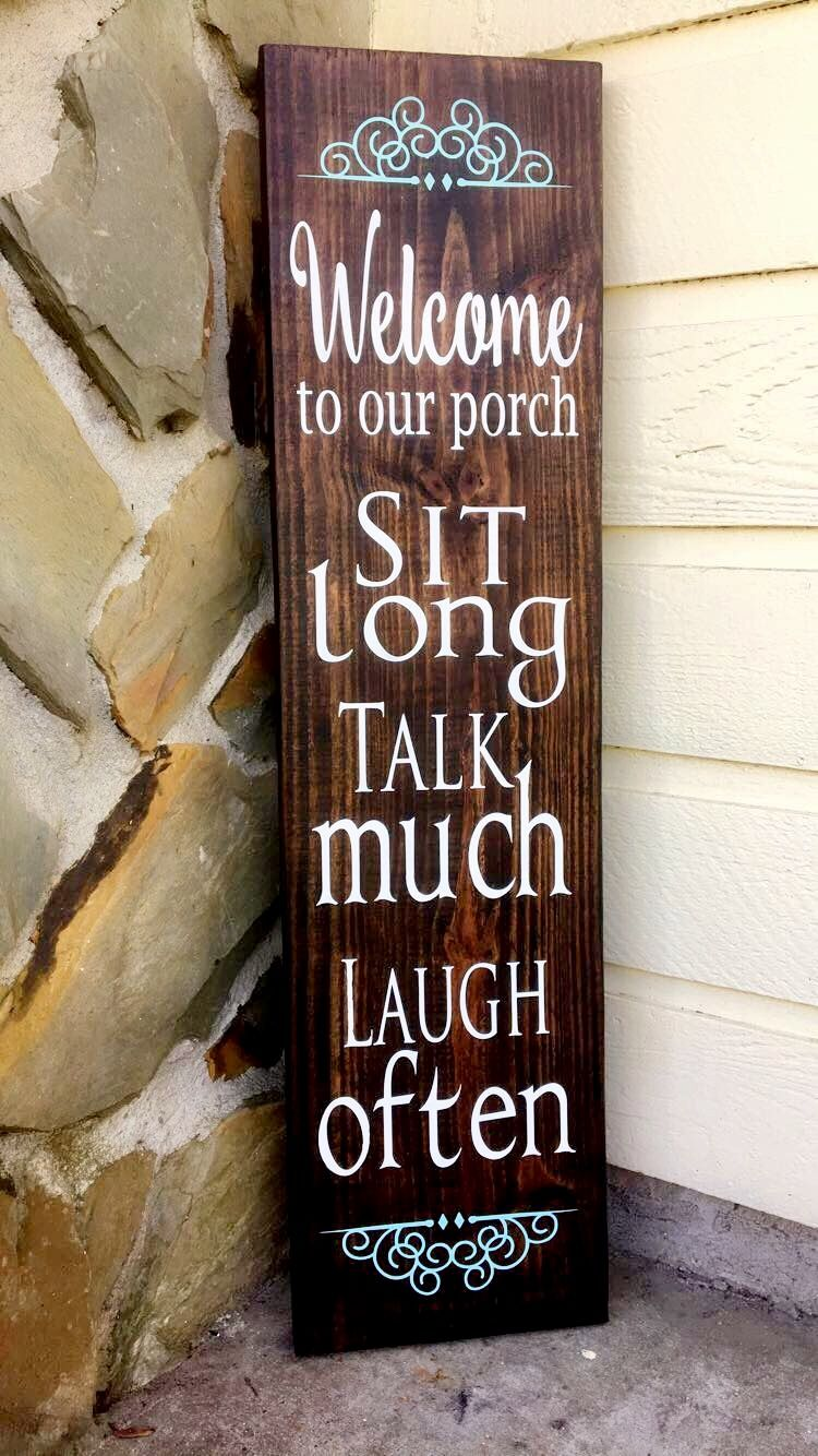 Porch sign porch wood diy porch pallet porch porch rules sign front