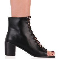 Anya Lace Up Boots in Black