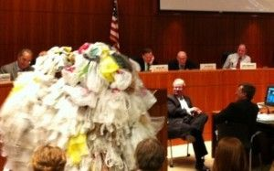Many cities across the US are coming together to ban plastic bag usage.  San Louis Obispo being among them.