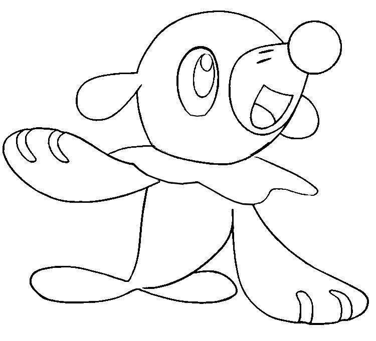 Coloring Page Pokemon Sun And Moon Popplio 2 Pokemon Coloring