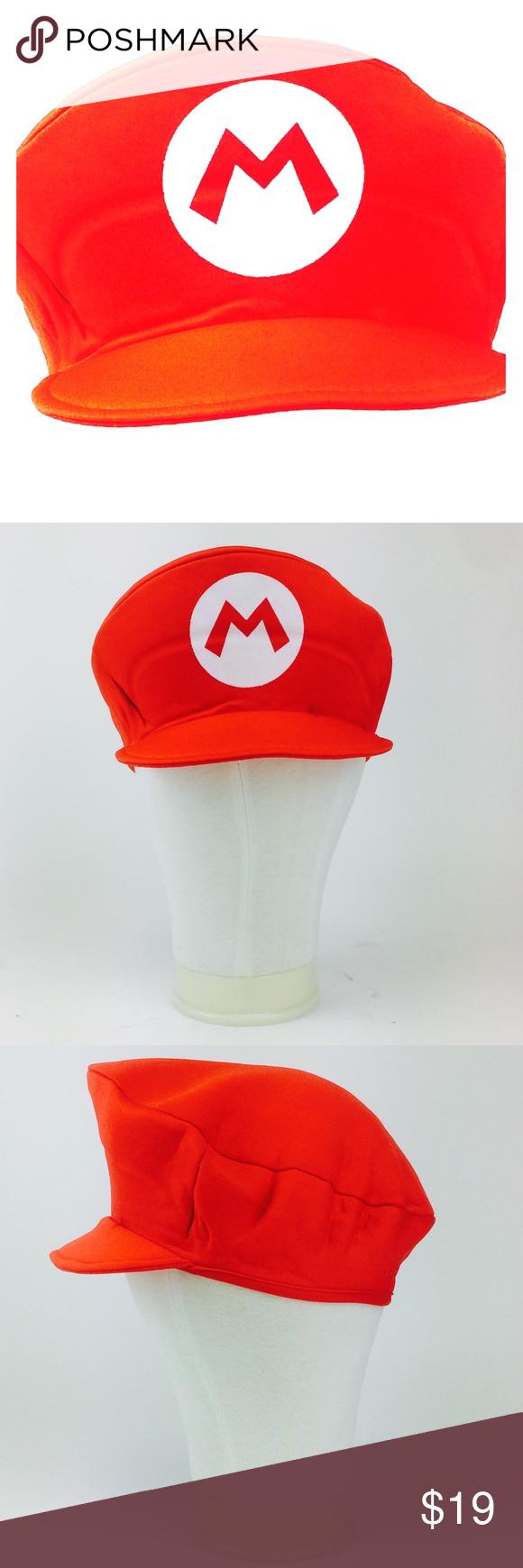 Mario Super Mario Red Costume Hat Red Costume Costume Hats Costumes