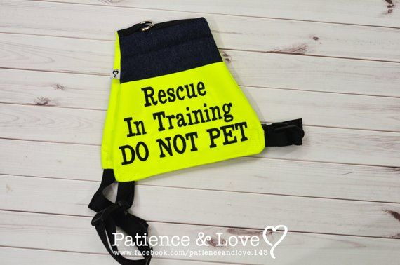 Dog Vest For 25 To 90lb Dogs Rescue In Training Do Not Pet