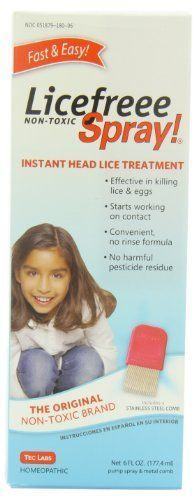 Licefreee Spray, Instant Head Lice Treatment Spray Bottle With Metal Comb, 6-Ounce #headlicetreatment Licefreee Spray, Instant Head Lice Treatment Spray Bottle With Metal Comb, 6-Ounce #headlicetreatment Licefreee Spray, Instant Head Lice Treatment Spray Bottle With Metal Comb, 6-Ounce #headlicetreatment Licefreee Spray, Instant Head Lice Treatment Spray Bottle With Metal Comb, 6-Ounce #headlicetreatment