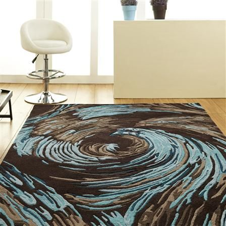 Brown And Teal Rug Home Decor
