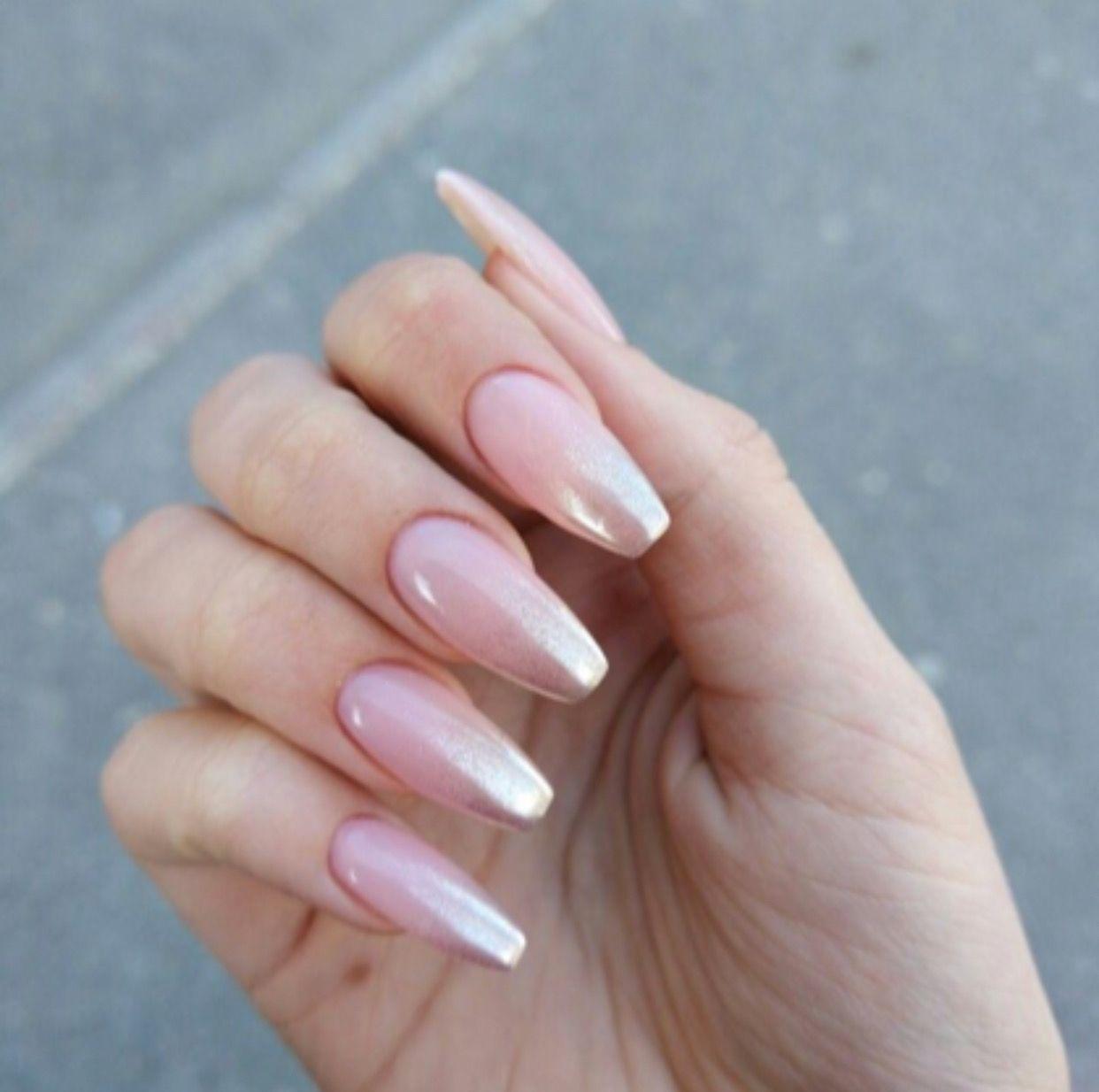 Fairy Dust Ombré Coffin Nails | Nails | Pinterest | Coffin nails ...