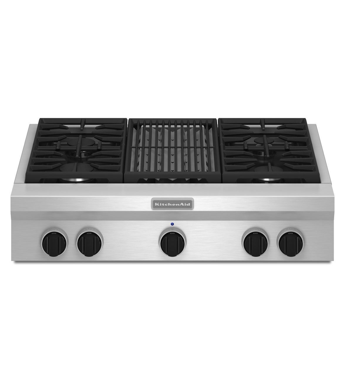 Prime Kitchenaid 36 Inch 4 Burner With Grill Gas Rangetop Interior Design Ideas Tzicisoteloinfo
