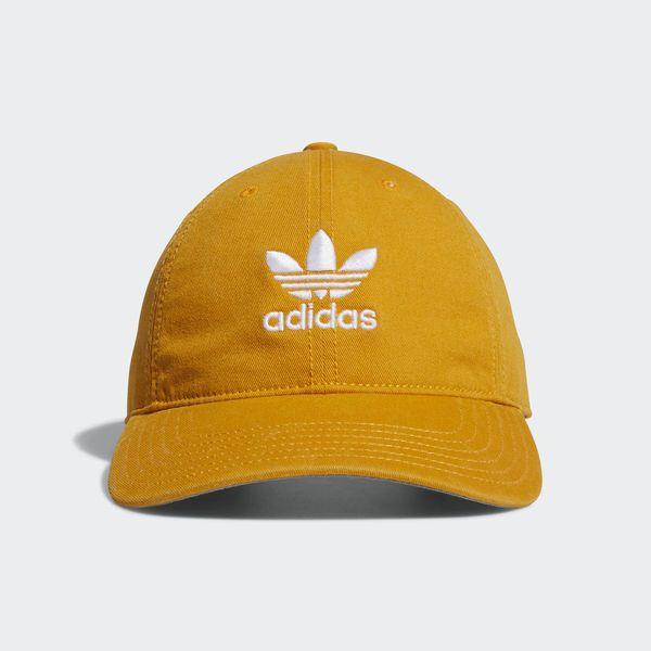 adidas Relaxed Strap-Back Cap - Yellow  e90c50187e7