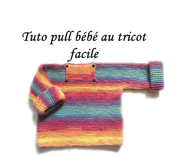 les tutos de fadinou tuto tricot pull bebe une piece point mousse tricot facile pull bb. Black Bedroom Furniture Sets. Home Design Ideas